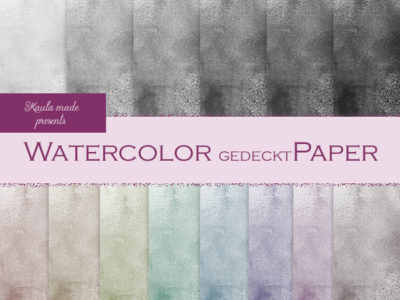 Digital Papier Regenbogen Watercolor gedeckt Digital Papier