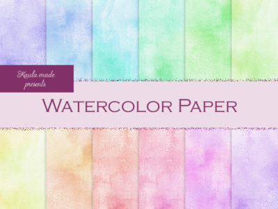 Digital Papier Regenbogen Watercolor Basis