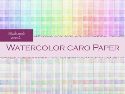 Digital Papier Regenbogen Watercolor Caro Digital Papier