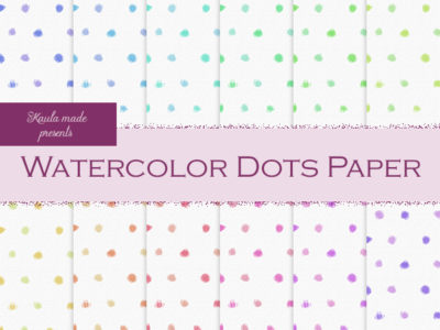 Digital papier Regenbogen Watercolor Dots