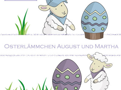 Set Osterlämmchen August und Martha